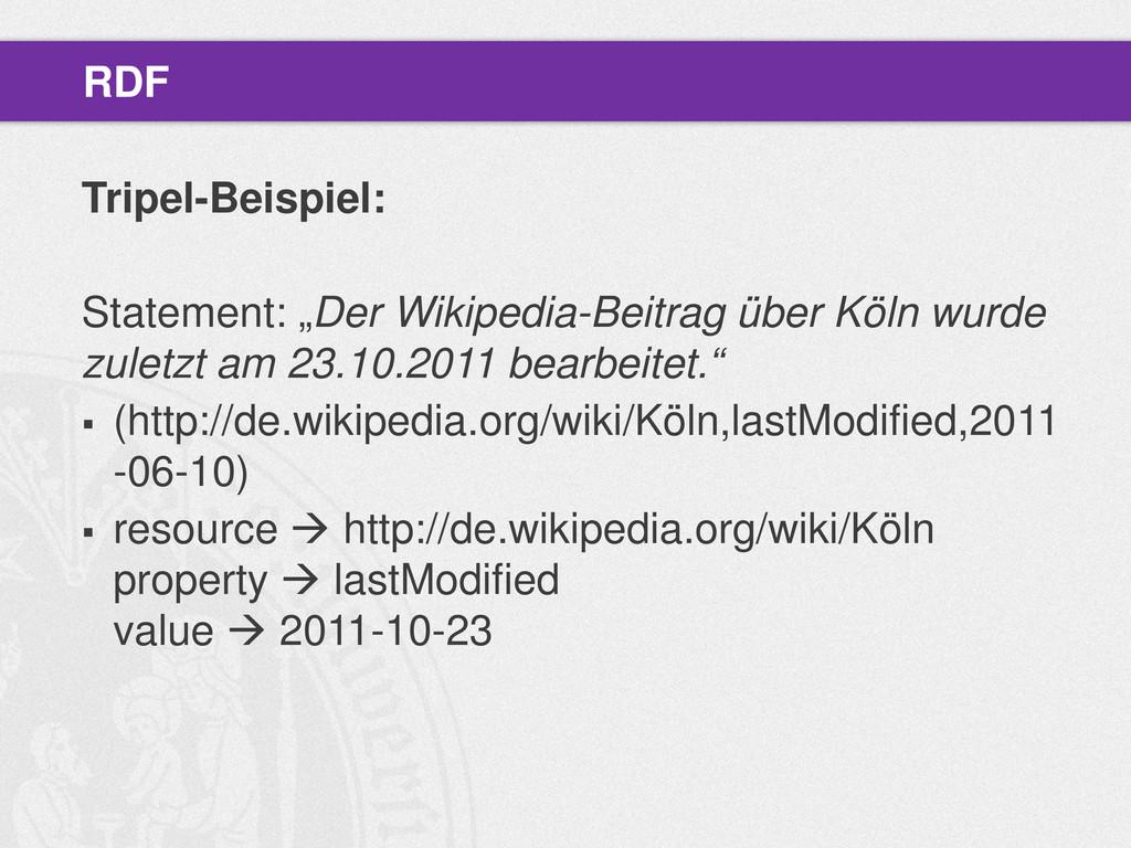 """Tripel-Beispiel: Statement: """"Der Wikipedia-Beit..."""