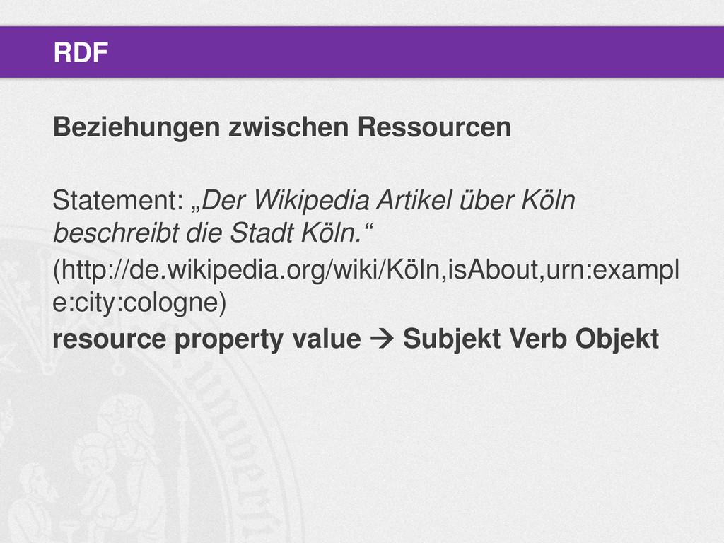 """Beziehungen zwischen Ressourcen Statement: """"Der..."""