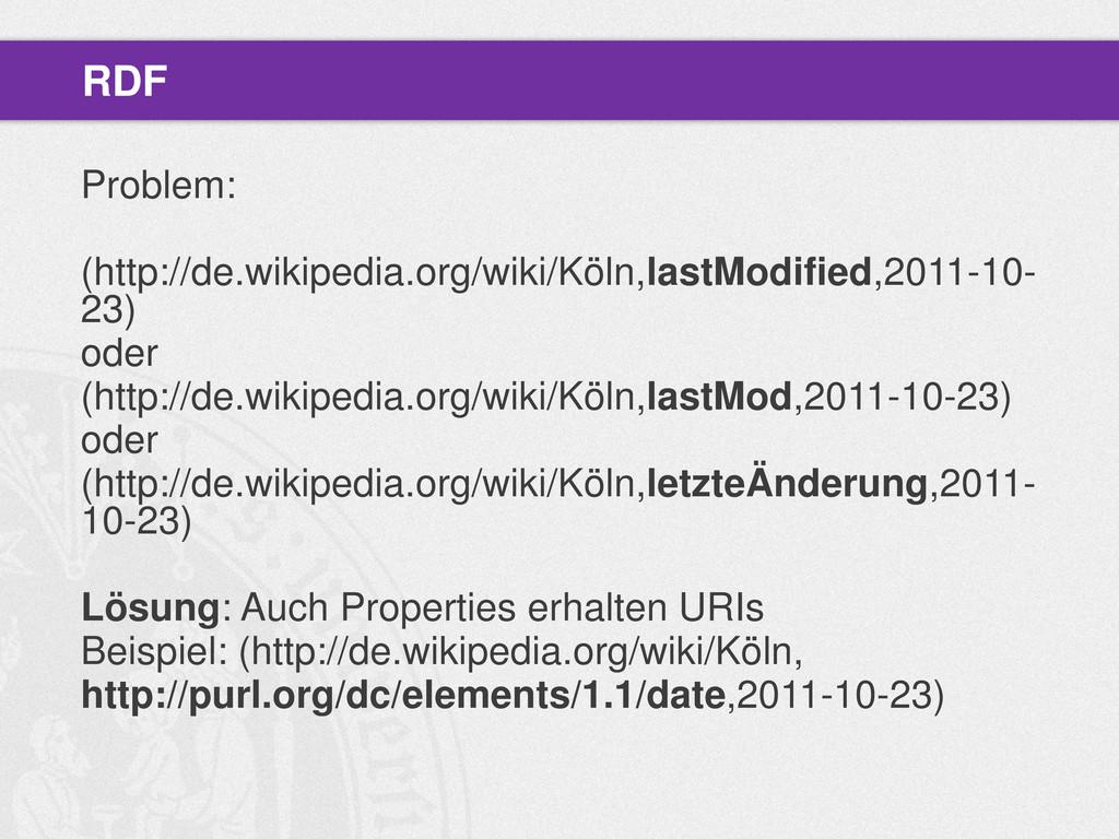 Problem: (http://de.wikipedia.org/wiki/Köln,las...