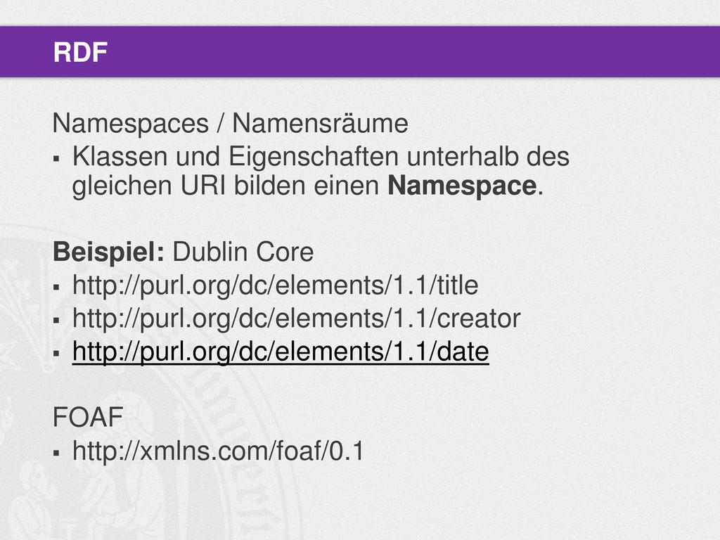 Namespaces / Namensräume  Klassen und Eigensch...
