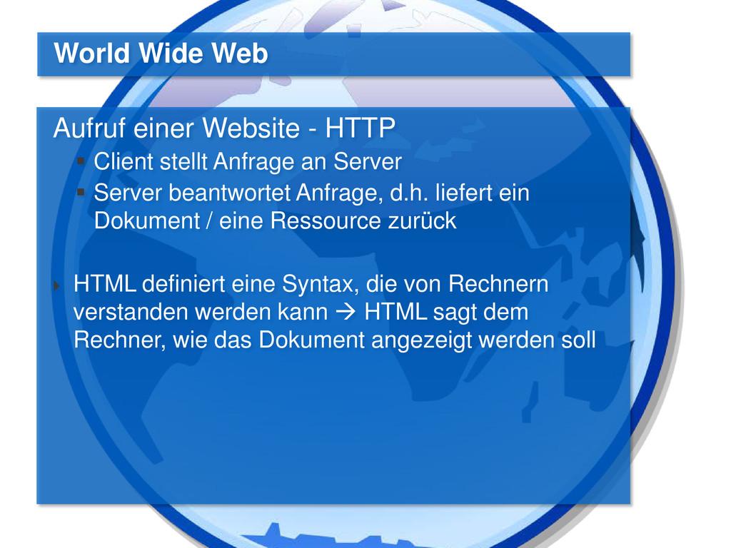 Aufruf einer Website - HTTP  Client stellt Anf...