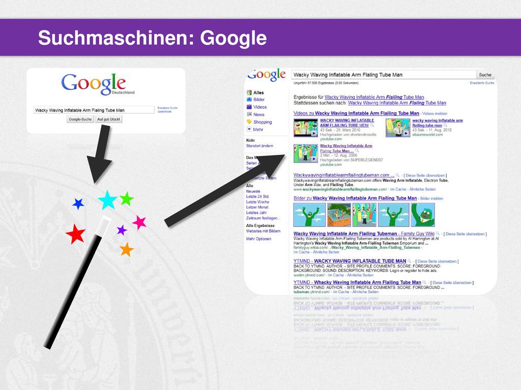 Suchmaschinen: Google