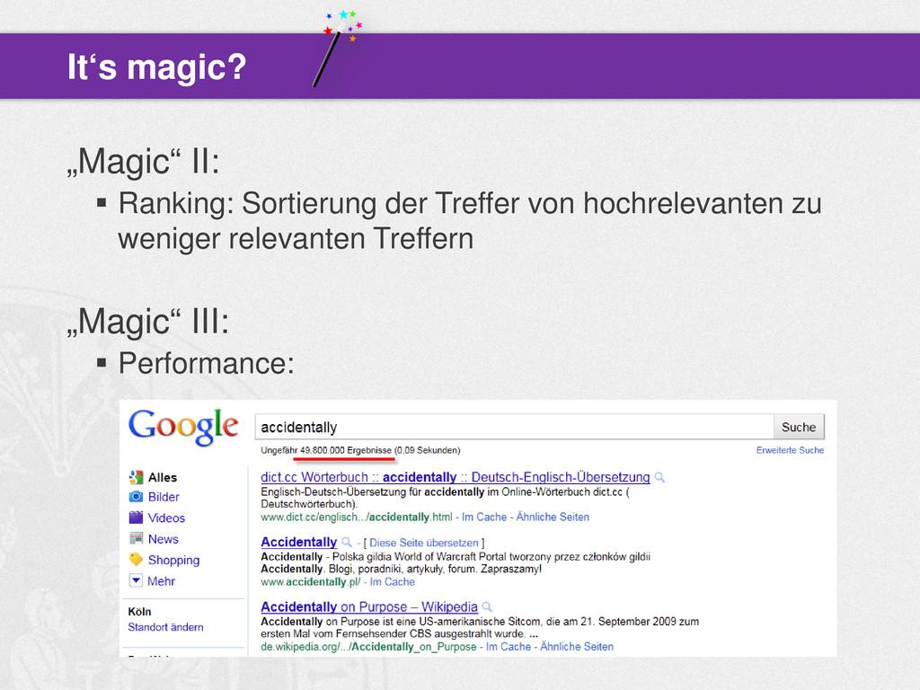 """""""Magic"""" II:  Ranking: Sortierung der Treffer v..."""