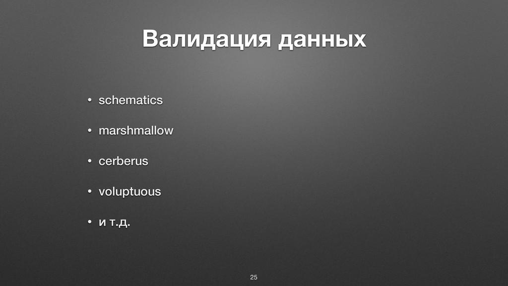 Валидация данных • schematics • marshmallow • c...