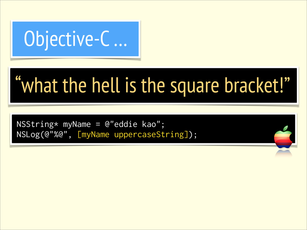 """what the hell is the square bracket!"" Objectiv..."