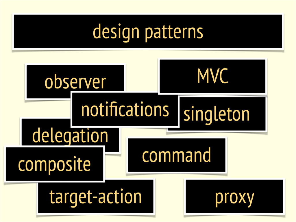 design patterns observer singleton delegation c...