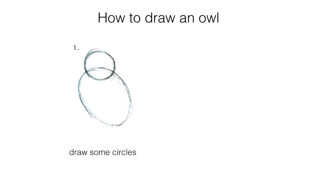 How to draw an owl draw some circles