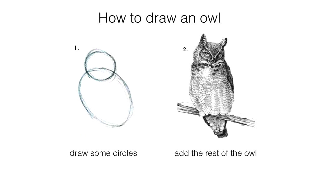 How to draw an owl draw some circles add the re...