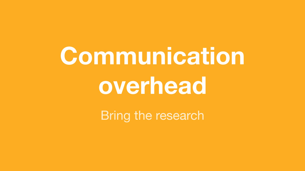 (without introducing more risk) Communication o...