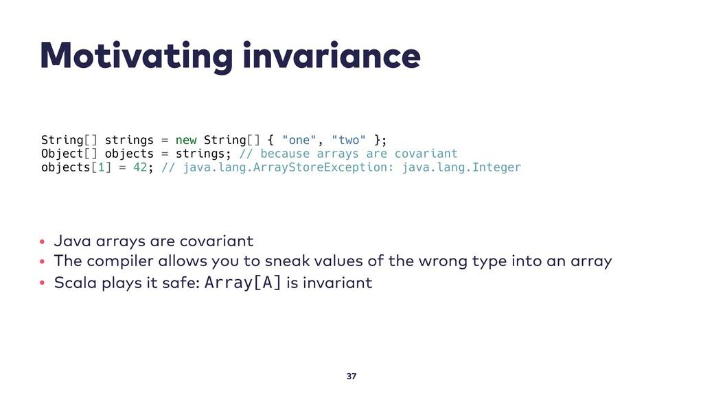 Motivating invariance 37 String[] strings = new...