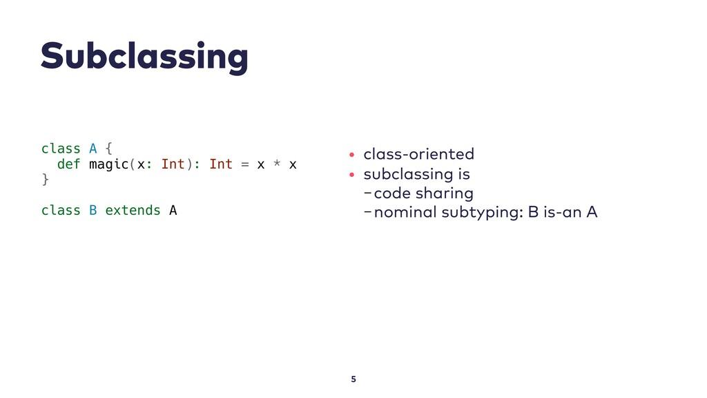 Subclassing 5 class A { def magic(x: Int): Int ...