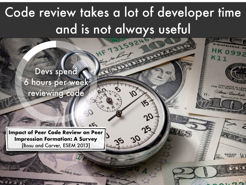 Code review takes a lot of developer time and i...