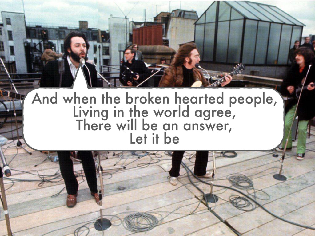 And when the broken hearted people, Living in t...