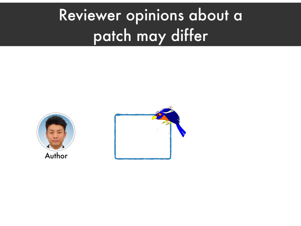 Reviewer opinions about a patch may differ Auth...