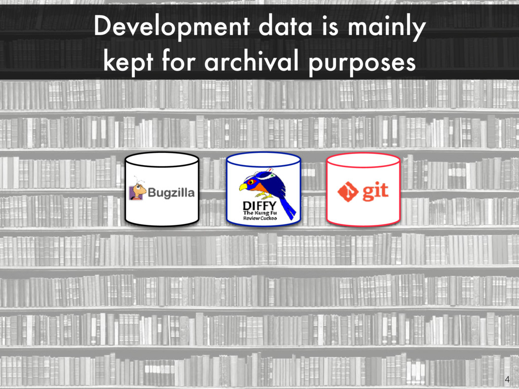 Development data is mainly kept for archival pu...