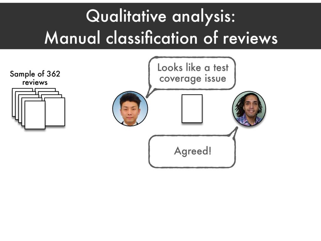 Qualitative analysis: Manual classification of r...