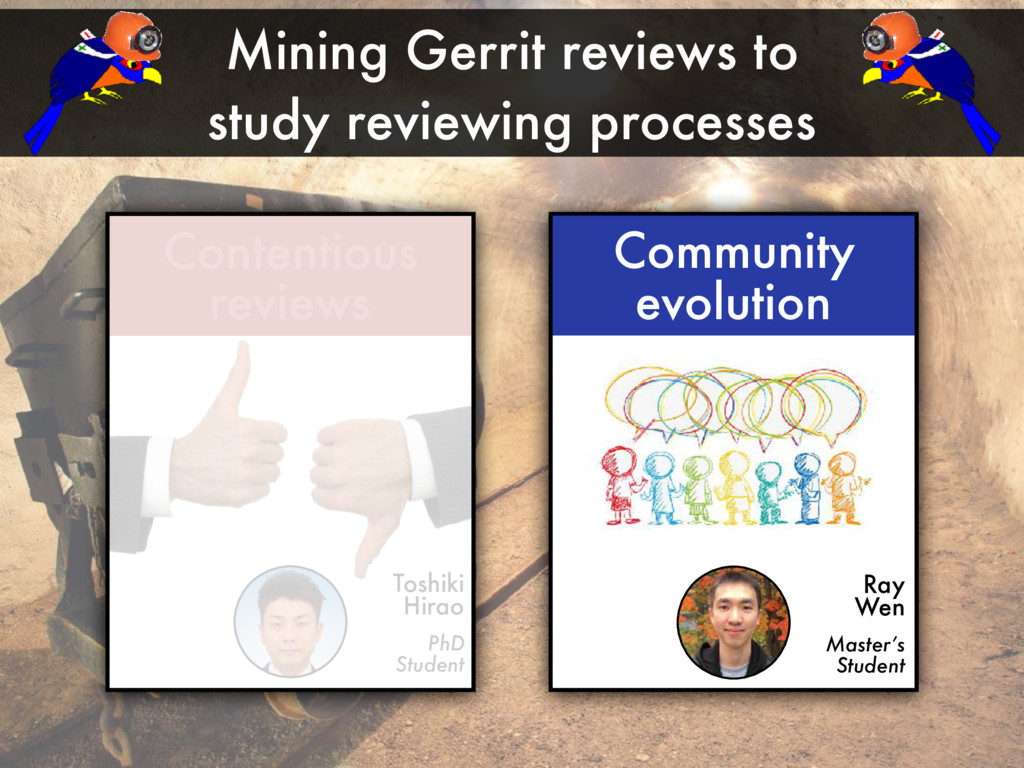 Mining Gerrit reviews to study reviewing proces...