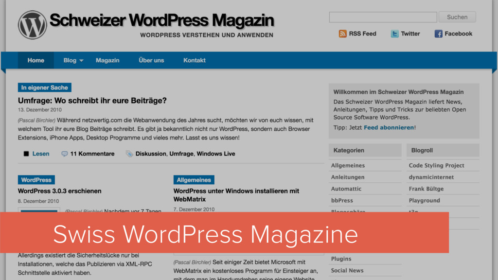 Swiss WordPress Magazine