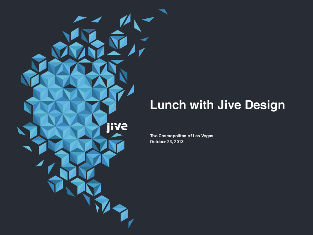Lunch with Jive Design The Cosmopolitan of Las ...