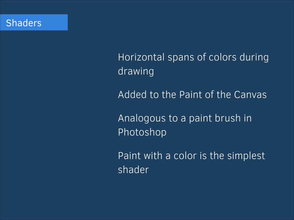 Shaders Horizontal spans of colors during drawi...