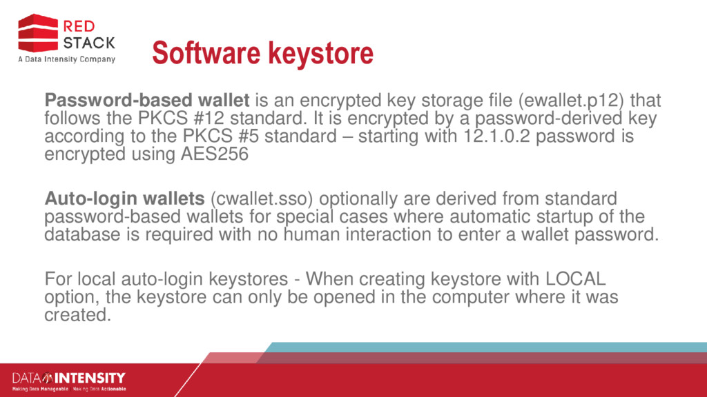 Software keystore Password-based wallet is an e...