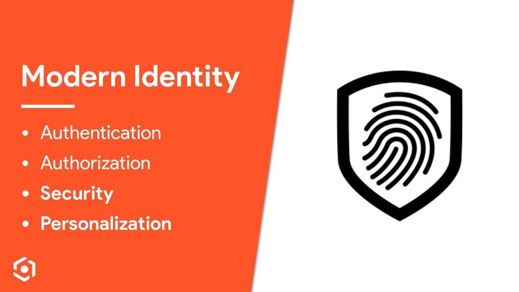 Modern Identity • Authentication • Authorizatio...