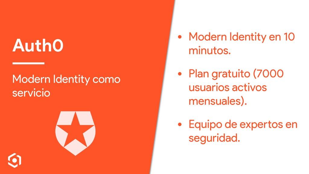 Auth0 Modern Identity como servicio • Modern Id...