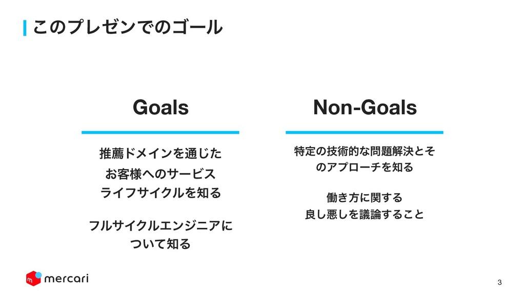 3 ͜ͷϓϨθϯͰͷΰʔϧ Non-Goals Goals ಛఆͷٕज़తͳղܾͱͦ ͷΞϓ...