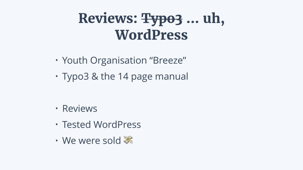 "• Youth Organisation ""Breeze"" • Typo3 & the 14 ..."