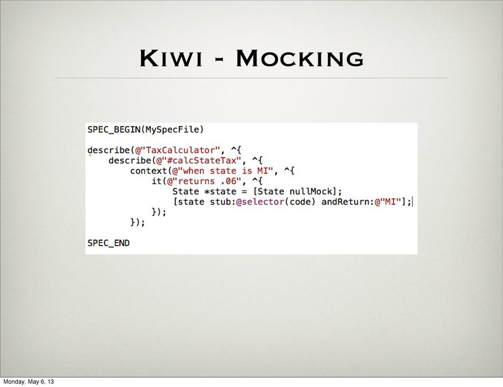 Kiwi - Mocking Monday, May 6, 13