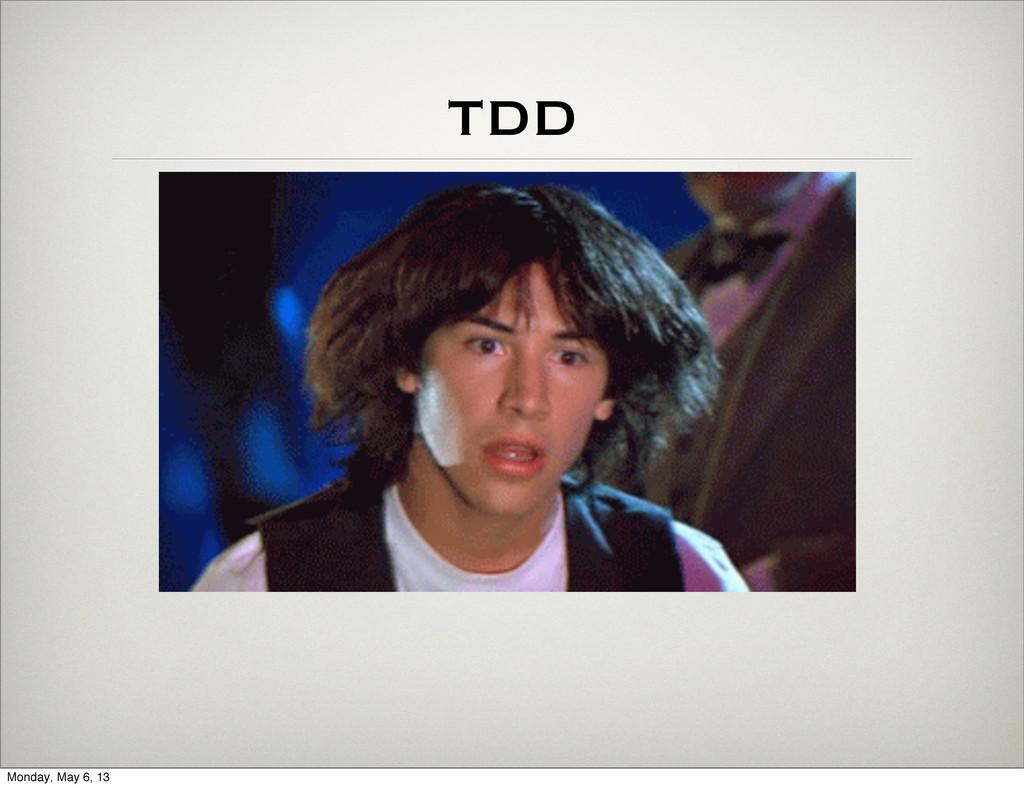 TDD Monday, May 6, 13