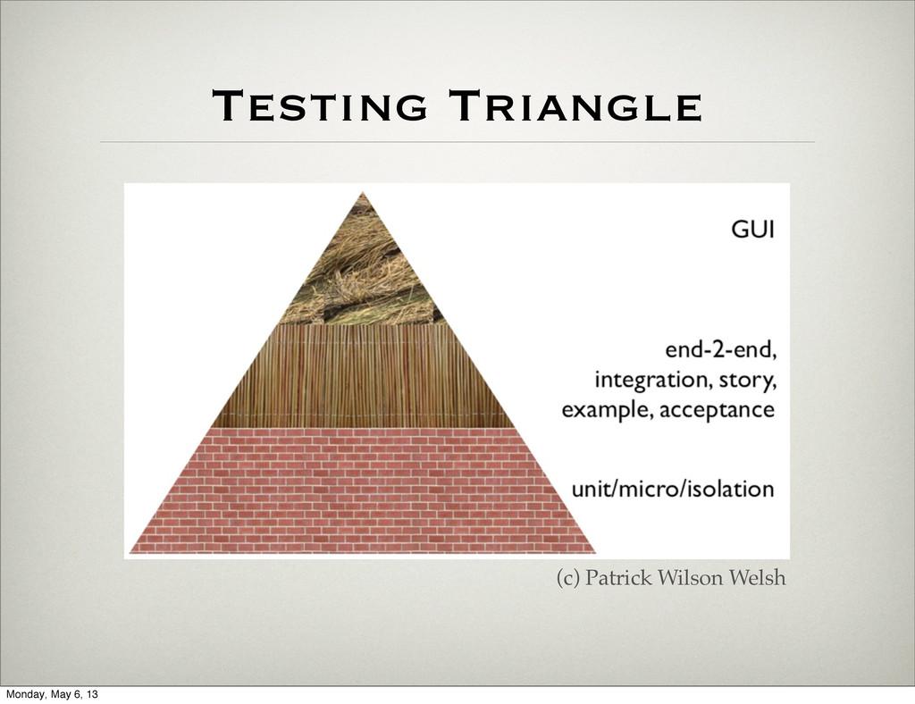 Testing Triangle (c) Patrick Wilson Welsh Monda...