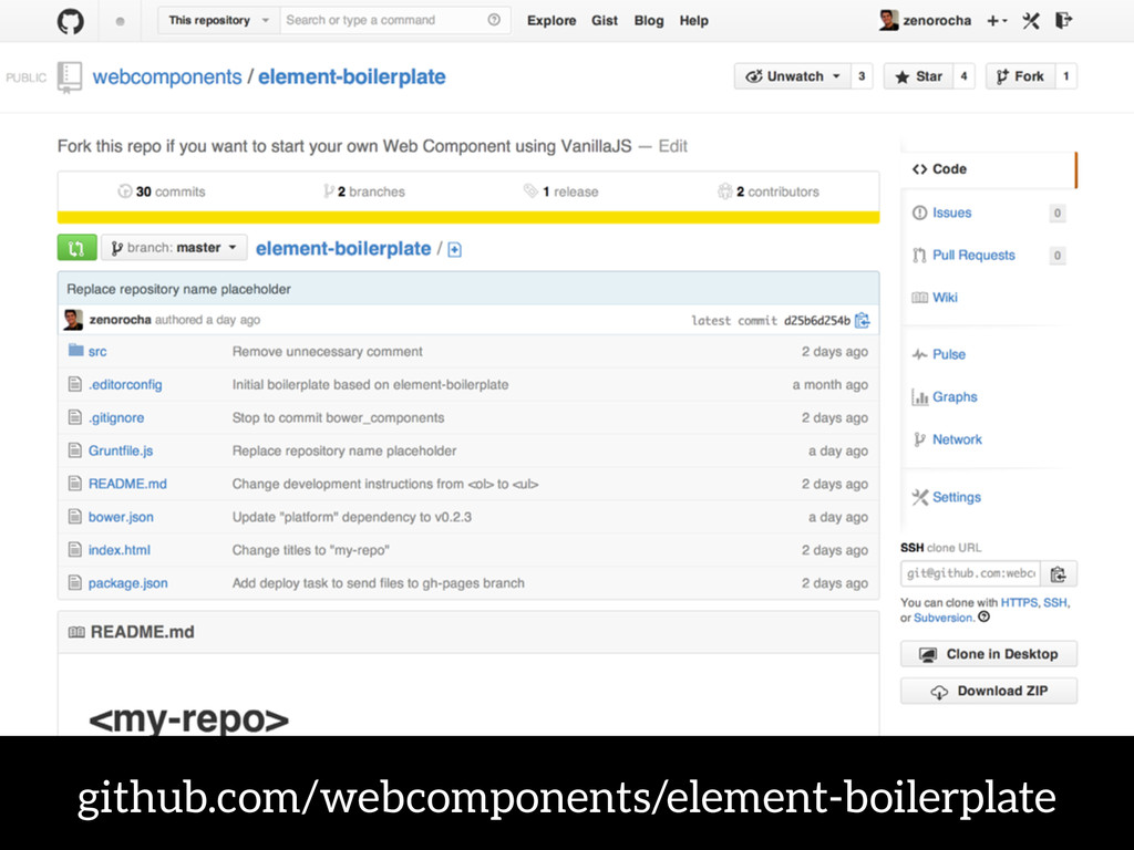 github.com/webcomponents/element-boilerplate