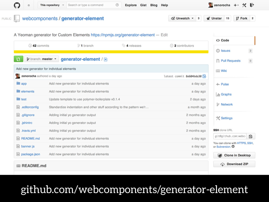 github.com/webcomponents/generator-element