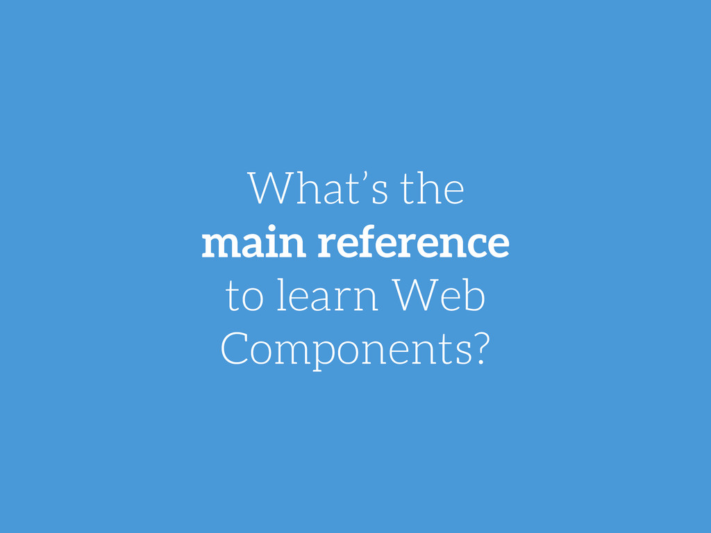 What's the main reference