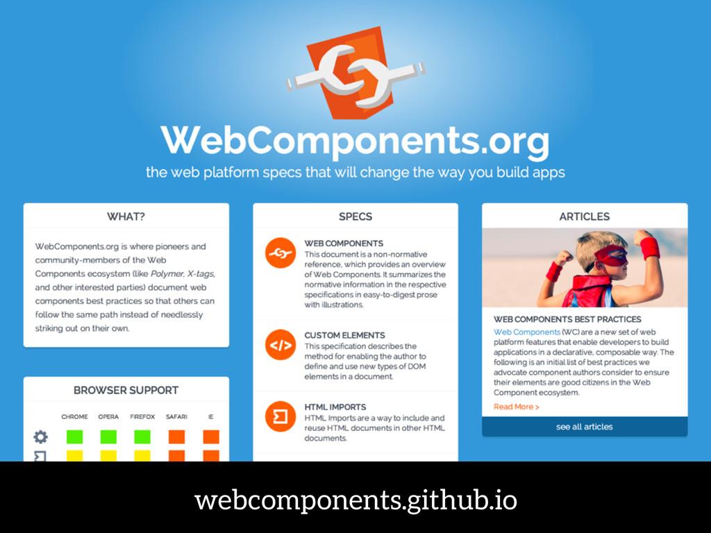 webcomponents.github.io