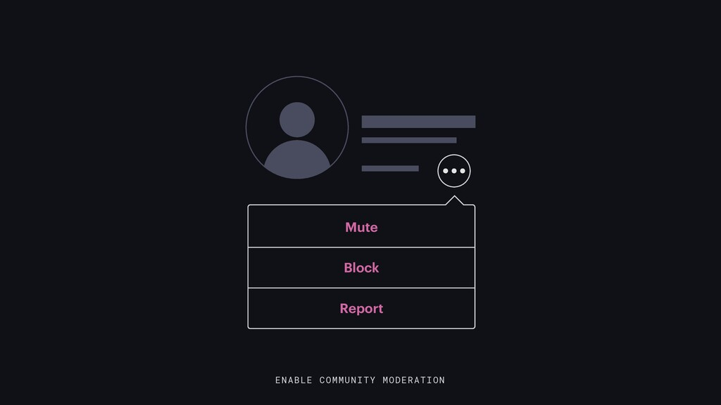 ENABLE COMMUNITY MODERATION Mute Block Report