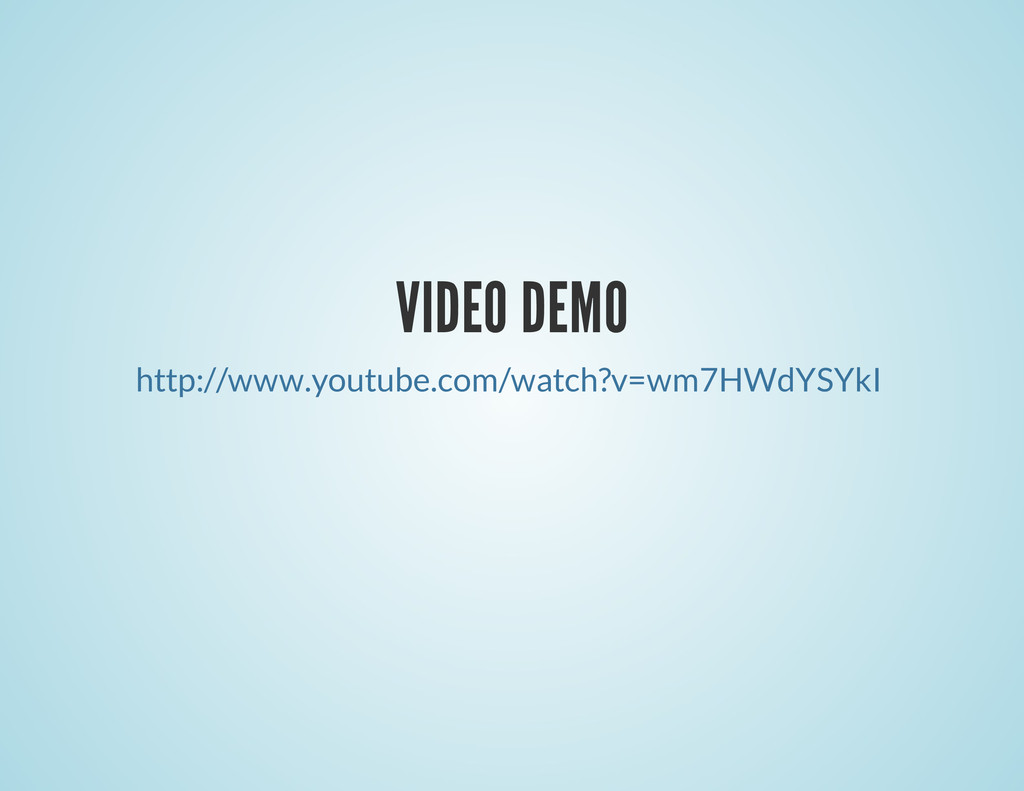 VIDEO DEMO http://www.youtube.com/watch?v=wm7HW...