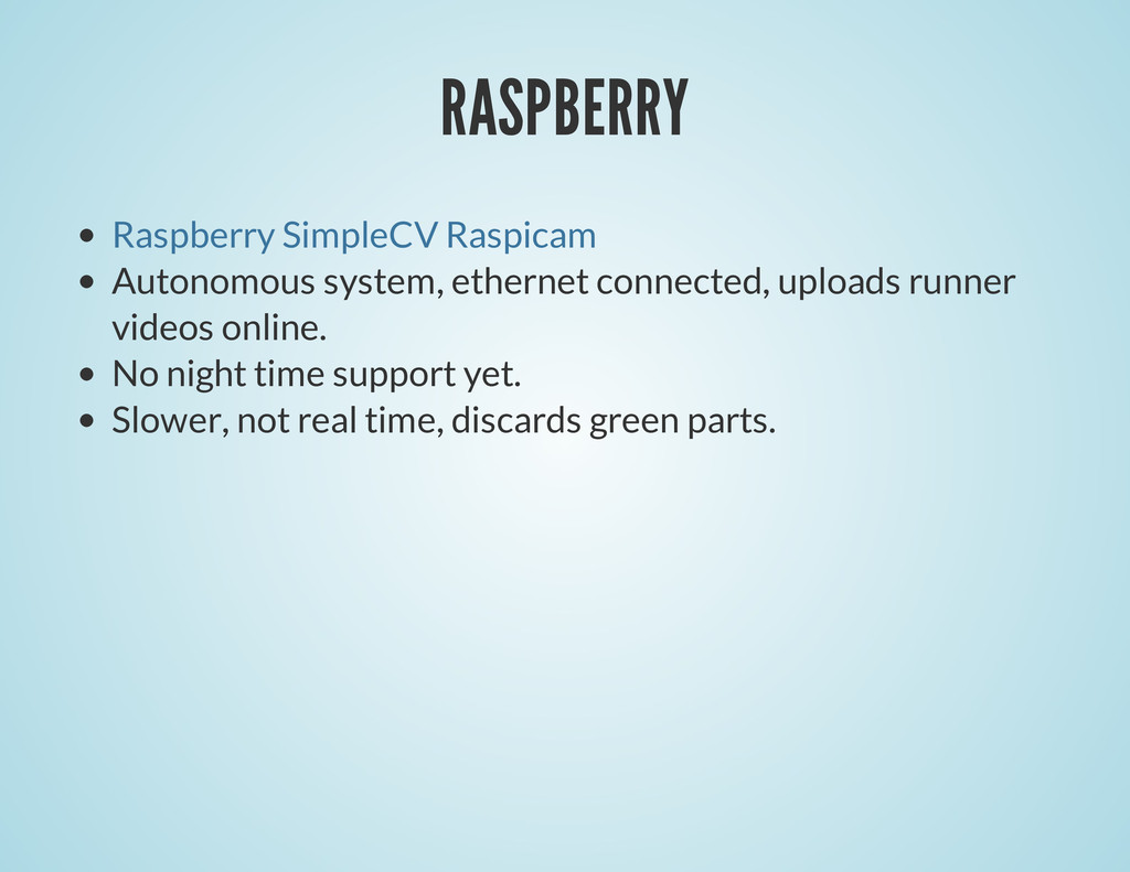 RASPBERRY Autonomous system, ethernet connected...