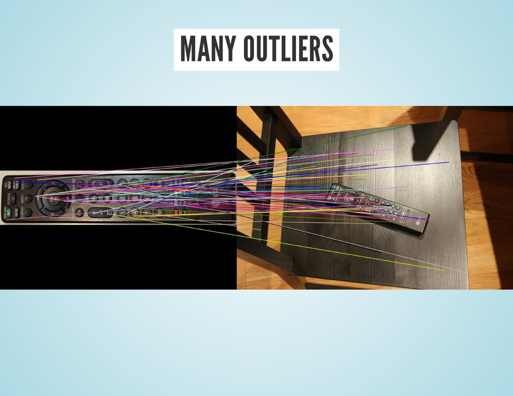 MANY OUTLIERS