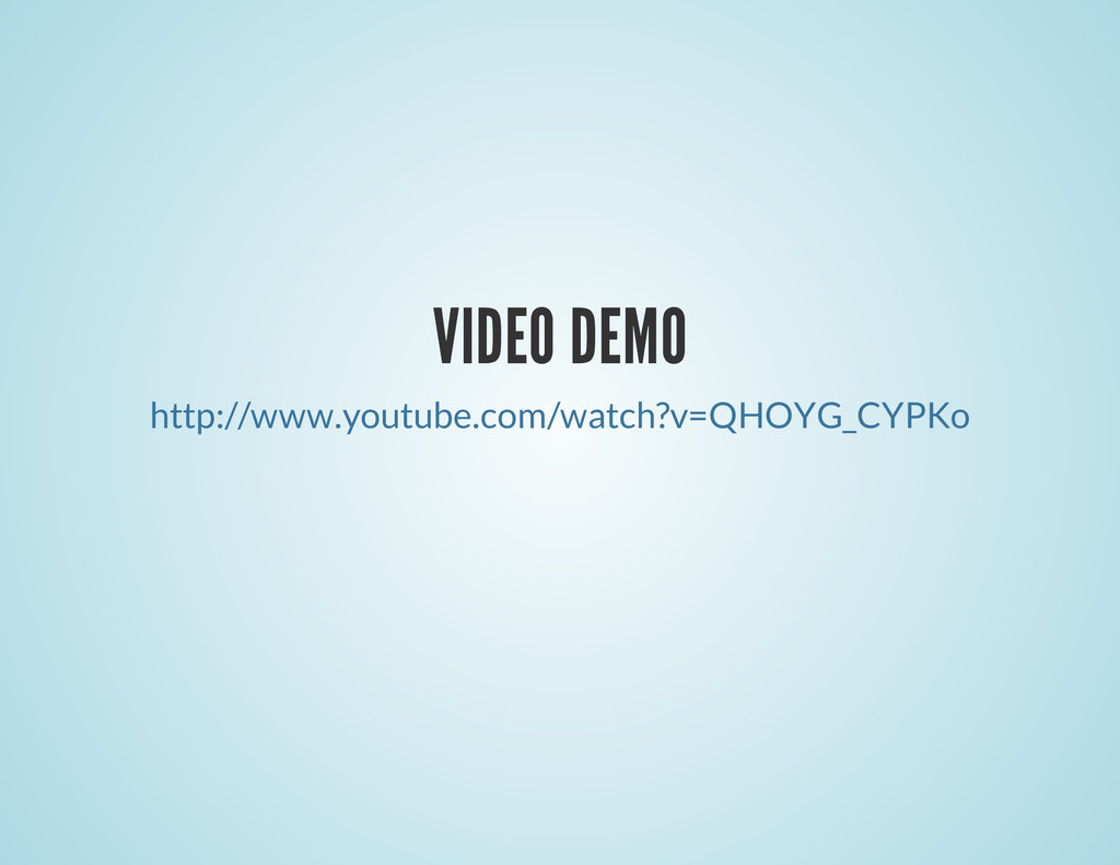 VIDEO DEMO http://www.youtube.com/watch?v=QHOYG...