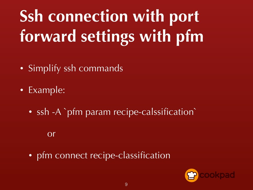 Ssh connection with port forward settings with ...
