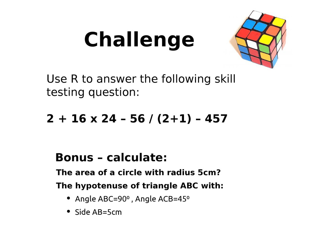 Challenge Use R to answer the following skill t...