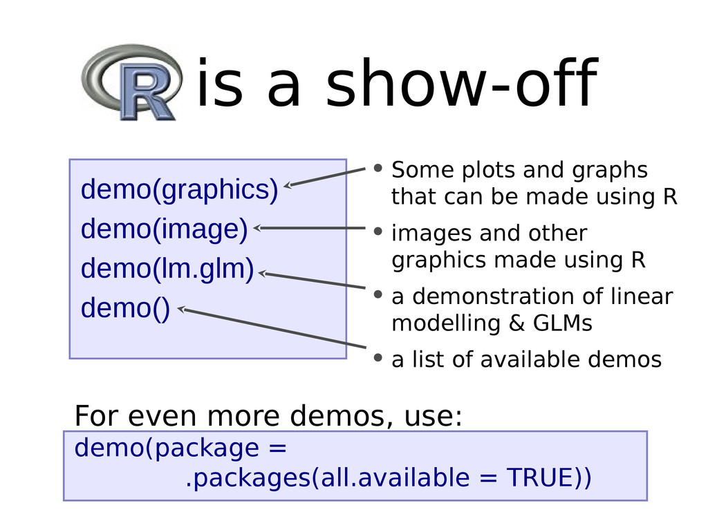 • Some plots and graphs that can be made using ...