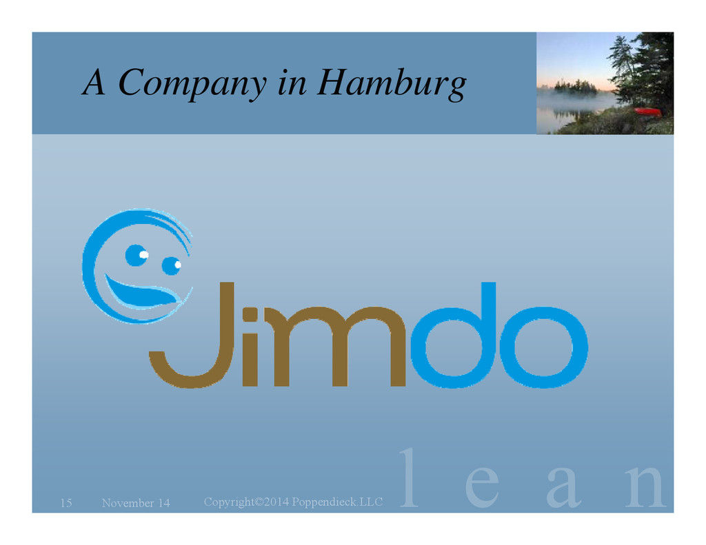l e a n A Company in Hamburg November 14 Copyri...