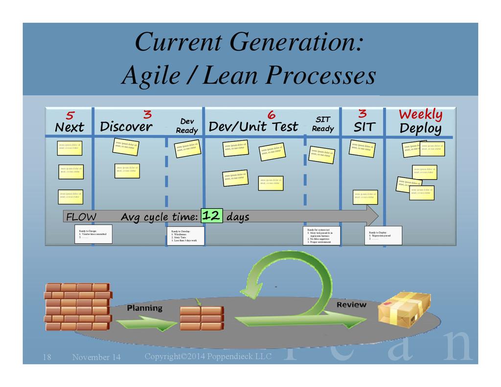 l e a n Current Generation: Agile / Lean Proces...