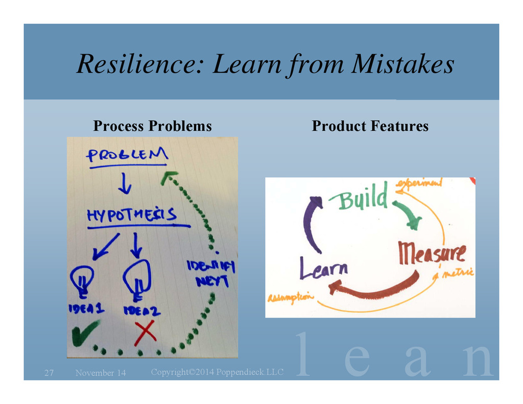 l e a n Resilience: Learn from Mistakes Process...