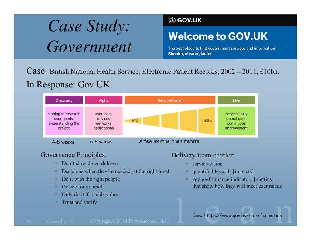 l e a n Case Study: Government Case: British Na...