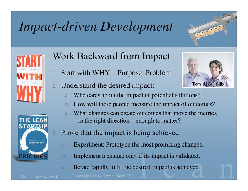 l e a n Impact-driven Development November 14 C...