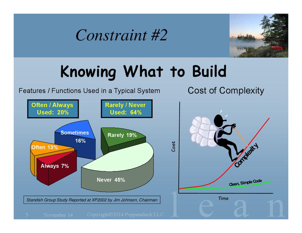 l e a n Constraint #2 Cost of Complexity Novemb...